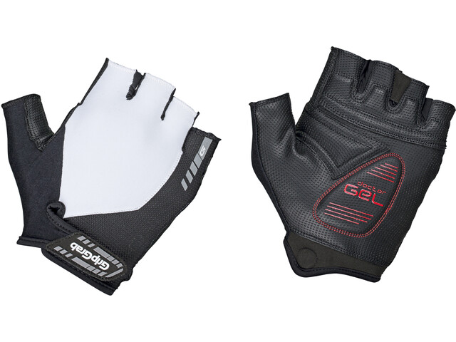 GripGrab ProGel Short Finger Padded Gloves White